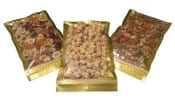 Clear Front / Gold Back Vacuum Pouches with Zipper