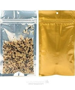 Clear Front / Gold or Silver Back Vacuum Pouches with Zipper