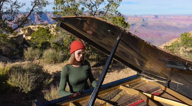 Brenda Carsey Captures Grand Piano in the Grand Canyon with TASCAM DR-701