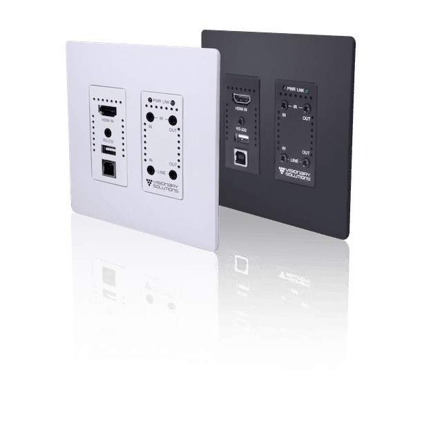 Visionary Solutions Unveils PacketAV Duet Wallplate Encoder
