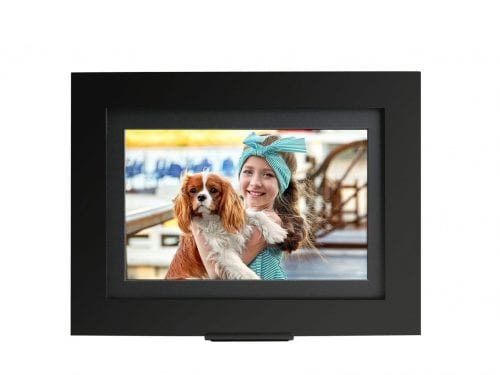 black wood smart digital picture frame